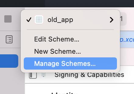xcode manage scheme